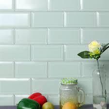 mm mosaic 3 x6 cheap white beveled edge reflective glass subway