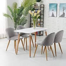 ofcasa esszimmerstühle 4 stück samt stühle küchenstuhl polsterstuhl 4er set wohnzimmer stuhl sessel restaurant hotel möbel rosa grau hellblau 4 grau