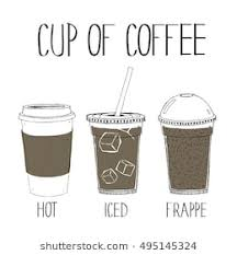 CUP OF COFFEE HAND DRAWING VECTOR SET