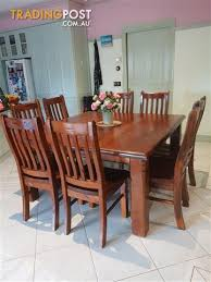 8 Seat Solid Timber Square Dining Table
