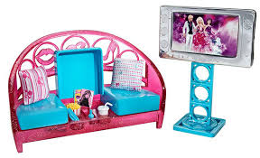 buy barbie movies to munchies living room and barbie doll set