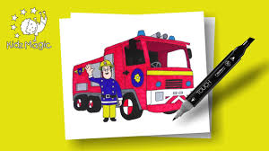 Sam The Fireman Coloring Page To Learn Colors | Drawings For ...