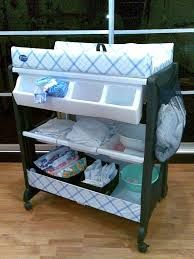 Baby Changer Dresser Top by Portable Baby Changing Table With Wheels And Attached Storage Plus