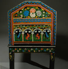 Vintage Mexican Painted And Lacquered Chest