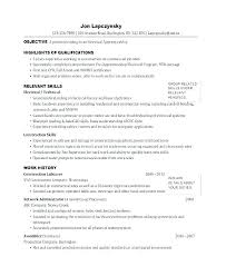 Sample Resume Electrician For Examples Samples Electricians Apprentice