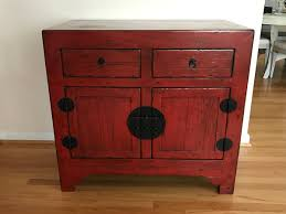 Pottery Barn Seagrass Headboard Craigslist by Pottery Barn Emmett Console Table Cabinet Cupboard Ming Red
