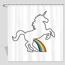 Unicorn Rainbow Wee Shower Curtain
