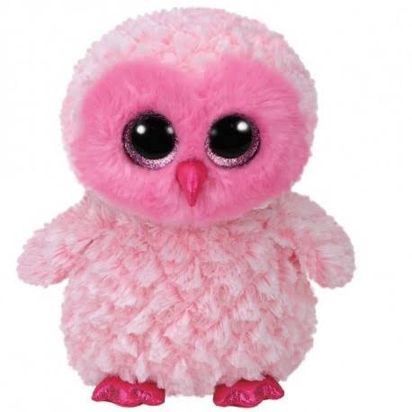 Ty Beanie Babies Boos - Twiggy The Pink Owl - Large