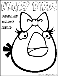 Female White Angry Birds Coloring Pages