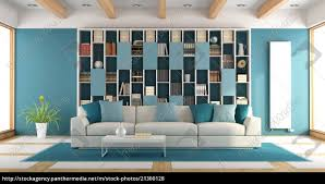 royalty free photo 21300128 white and blue large living room