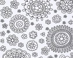 Printable Coloring Page Adult Pages Instant Download PDF