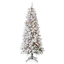 Slim Pre Lit Christmas Tree 75 by New Finley Home 7 5 U0027 Flocked Slim Pre Lit Christmas Tree 225 00