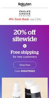 Ebates/Rakuten 20% Off Site-Wide At Paula's Choice Using