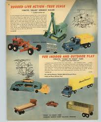 100 Truck Paper Car Carrier 1959 PAPER AD 2 PG Structo Toy S Road Grader Combat Rier