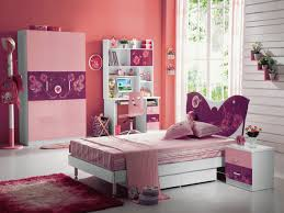 Kids Room Decor Cute Girl Color Ideas On Bedroom F With Simple White Low Profile Bed