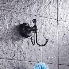 support mural cuisine 2 crochets de cuivre chambre robe crochet support mural noir