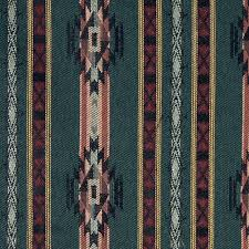 Striped Southwest Navajo Style Upholstery Fabric By The Yard Rustic