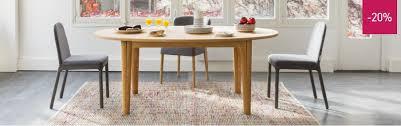 table a manger habitat ega table de salle à manger à rallonges soldes table habitat