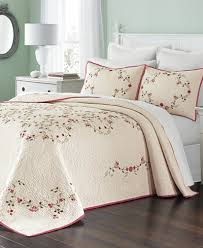 martha stewart collection westminster vines bedspread created for