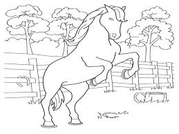 Spotted Horse Coloring Pages Printable Horses Click The And