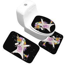 x 3 teiliges badezimmer teppich set badematte 40x50cm badteppich 50x80cm und wc deckel bezug 35x45cm badematten rutschfest waschbar mit