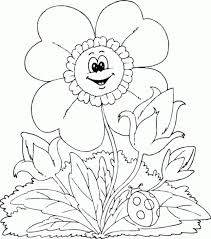 Coloring Pages Printable Spring Flower