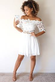 lace off shoulder summer dress from miss pap maroon casual