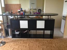 fabriquer table haute cuisine table de bar avec kallax bidouilles ikea