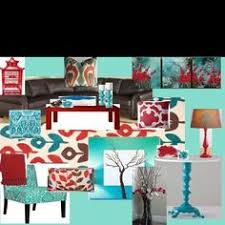 Brown And Aqua Living Room Decor by Red And Blue Living Room Decorating Red And Blue Pinterest