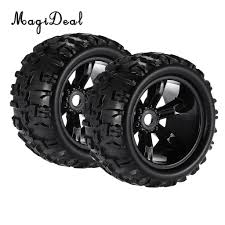 MagiDeal 2Pcs Rubber 1/8 Climbing RC Car Truck Wheels Tires 8477 For ... Shop Remote Control 4wd Triband Offroad Rock Crawler Rtr Monster 4x 32 Rc 18 Truck Wheels Tires Complete 1580mm Hex Essentials 4x 110 Stadium And Set For Wltoys 18628 118 6wd Climbing Car 5219 Free Shipping 4pcs Rubber 150mm For 17mm 4 Chrome Truck Wheels With Pre Mounted Tires 1 10 Monster Amazoncom Alluing Fourwheel Drive Military Card Strong Power Scale 6 Spoke Short Course Tyres4pc Radio Mounted 4pcs Tyre 12mm Hex Rim Wheel Hsp Hpi Traxxas Off Road Bigfoot In Toys