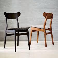 Outstanding Classic Dining Chair Caf Upholstered Walnut West Elm Australium Design Melbourne Sydney Au Room Folding Home