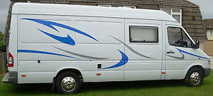 Image Is Loading Mercedes Sprinter Large Vinyl Motorhome Camper Conversion Van