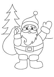 Printable Christmas Santa Claus Coloring Page