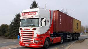 100 Scania Truck SCANIA TRUCK TRUCKS LORRY WITH CONTAINER LOADS YORKSHIRE ENGLAND