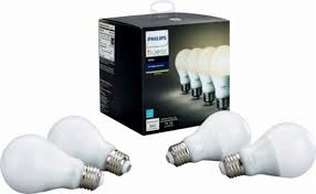 philips hue white a19 wi fi smart led bulb 4 pack white 472027