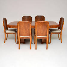 1920's Original Art Deco Walnut Dining Table & Chairs ... Julian Bowen Huxley Walnut Round Ding Table With 4 Chairs Fniture Of America Set Cm3354rt Winsome Groveland Square 2 3piece Lola Modern Wenge Martin Marble Top Dark Coaster 105361 Malone 5 Piece Flatfair Zuo Virginia Key Oval Tables Vancouver Lisandro Regular 16 Sets Lipper Childrens And Walmartcom Buy Acme Danville 07059 9 Pcs In Black Espresso Sydney 5ft 6 Dublin Ireland Store