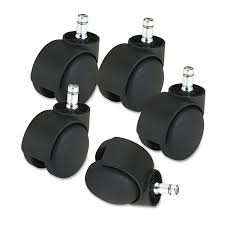 Deluxe Futura Casters, Nylon, B And K Stems, 120 Lbs./Caster, 5/Set ... Amazoncom Opttico Office Chair Caster Wheels Replacement Black 3 Set Of 5 By Lehawk Universal Heavy Rollerblade Casters For Herman Miller Aeron 6pcs Wheel Swivel Mute Hard Soft Pu Castor For Timber Floor Pack Duty Stem Roller 3inch 1pcs 40kg 2 Improv Carpet Floors Slipstick Foot Desk No Without White Luxura Computer With Which One Should I Choose