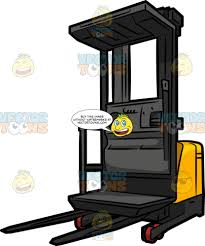 100 Powered Industrial Truck Order Picker Forklift Clipart Cartoons By VectorToons
