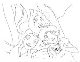 Sam Alex Et Clover Fashion 2 Est Un Coloriage Des Totally Spies