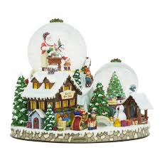 Simon Pearce Christmas Tree Ornament by Christmas Village Snowglobe By Christopher Radko