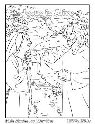 Download Jesus Is Alive Coloring Page PDF