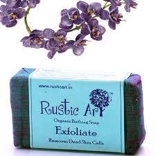Organic Exfoliate Soap Rustic Art Chemical Free Remove Dead Skin Scrub