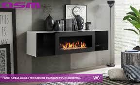 tv tisch mit ethanol kamin lowboard tv board unterschrank