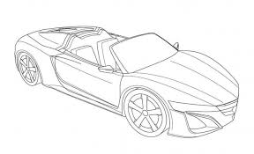 Acura NSX Coloring Pages