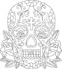 Printable Coloring Pages Of Skulls And Roses