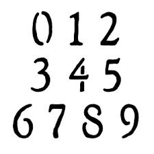 Alphabet And Number Stencils