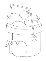 Apple Basket Coloring Pages