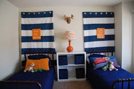 Navy And White Striped Curtains by Kid Bedroom Astonishing Stripe Blue Curtains For Boy Room And