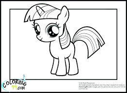 Princess Twilight Sparkle Coloring Pages My Little Pony Young