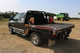 Used Deweze Bale Beds For Sale by 2004 Dodge Ram 2500 Quad Cab Flatbed Pickup Truck Item Dd0